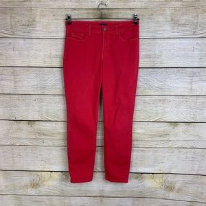 NYDJ Alisha Fitted Ankle Red Denim Stretch Jeans